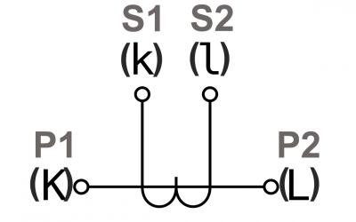 Anschlussbezeichnungen nach DIN EN 61869-1/2