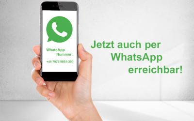 Jetzt auch per WhatsApp