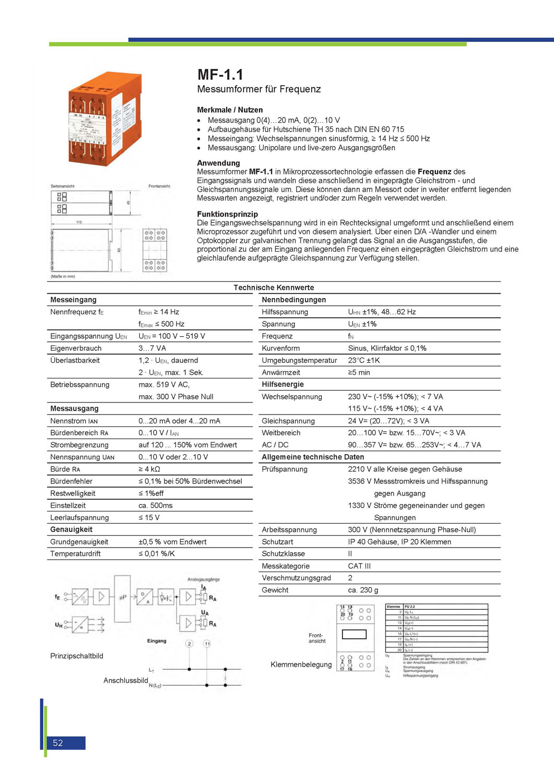 Messumformer für Frequenz
